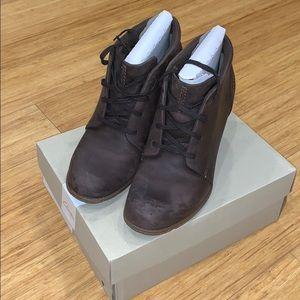 Clarks booties Sashlin in dark brown leather